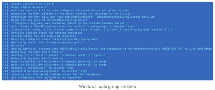 Window node group creation
