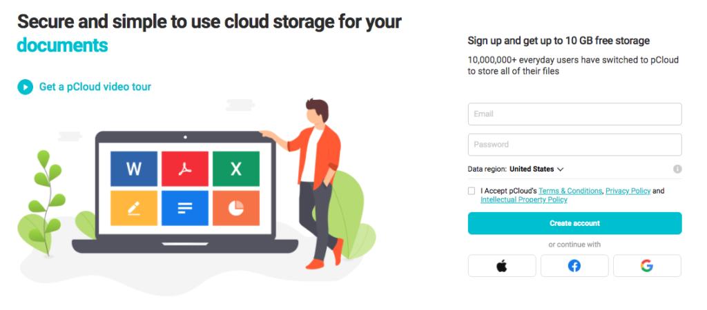 pCloud – up to 10GB free cloud storage