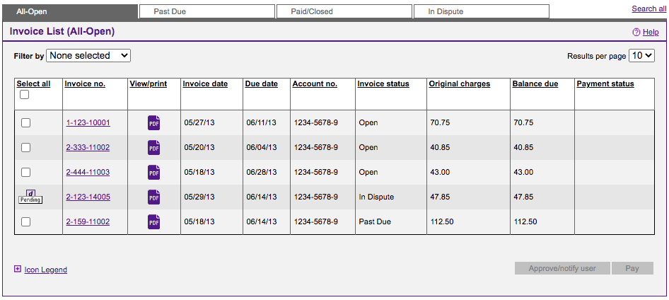 Fedex Billing - Invoice List (All-Open)