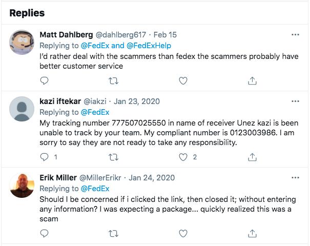 Fedex Scam replies