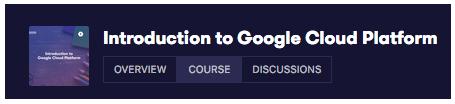 GCP 101 Course