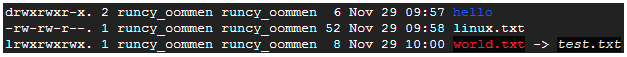 Here's a sample output of ls -l command: - Linux File Permissions