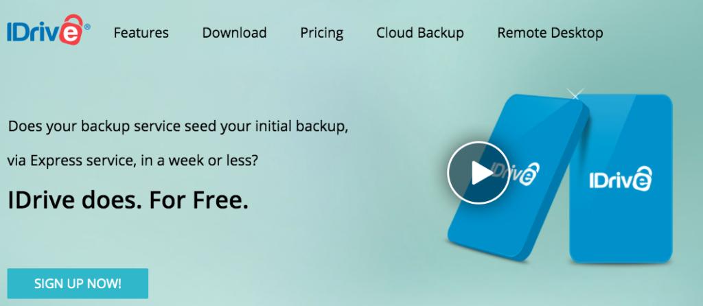 IDrive – 5GB free backup storage