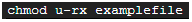 Revokes read and execute from user.