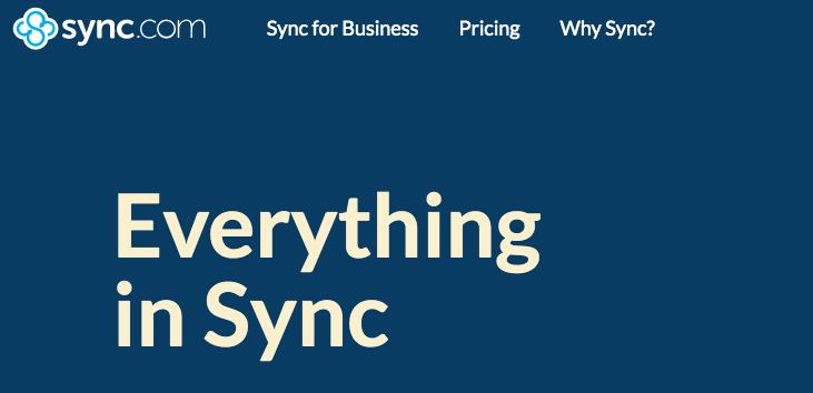 Sync's encrypted cloud storage platform