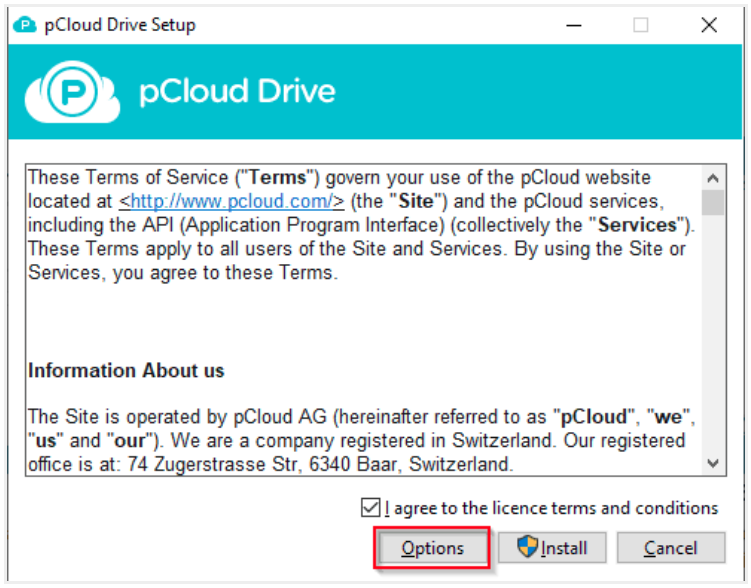 pCloud Drive License Agreement
