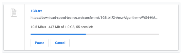 Conduct speed test on Google Chrome