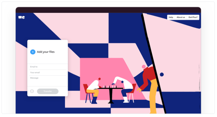 WeTransfer is our classic file sharing service