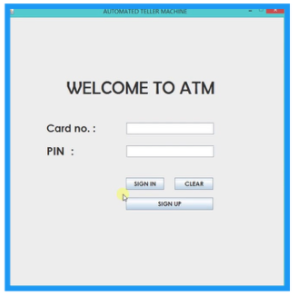 ATM Interface - Java Projects