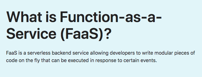 What is Function-as-a-Service (FaaS)?