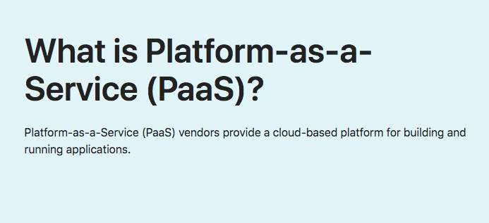 What is Platform-as-a-Service (PaaS)?