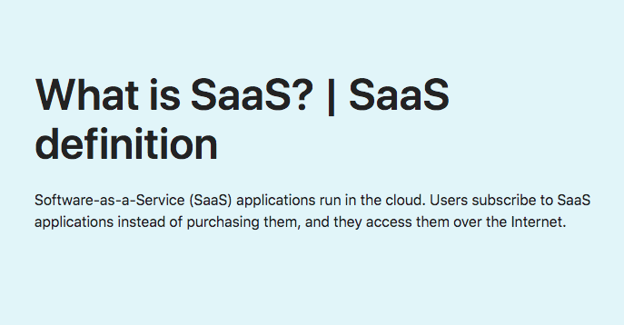 What is SaaS? | SaaS definition online - Software-as-a-Service